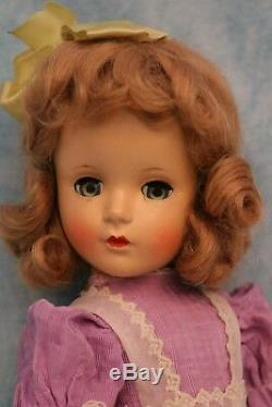 14 Madame Alexander Wendy Ann Margaret face HP doll Tagged Party dress 1948