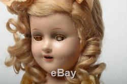 15 in Madame Alexander Sonja Henie Composition Doll. Original. 1939-1943