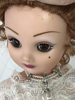 19 Madame Alexander Cissy Couture Doll Pearl Embroidered Lace Bridal Gown #I