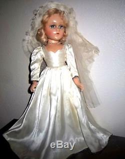1930's 18Madame Alexander composition Wendy Ann Bride Doll in Original Dress