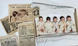 1930s ALEXANDER 8 DIONNE QUINTUPLETS COMPOSITION 5 DOLL LOT