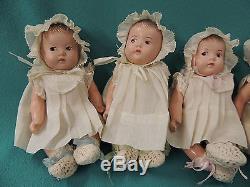 1930s Madame Alexander Dionne Quintuplet Baby Dolls Original Clothes CLEAN