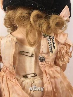 1930s Madame Alexander Doll Little Colonel Shirley Temple Look-ALike Composition