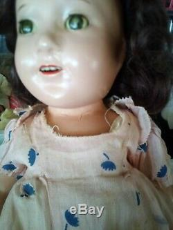 1937 18 Vintage Composition Madame Alexander Jane Withers Doll