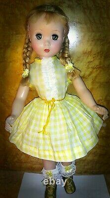 1950 20 inch Madame Alexander Polly Pigtails Maggie Walker doll