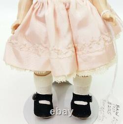 1950 Madame Alexander Kins Bent Knee Walker BKW Wendy 8 Pink Dress Lace Trim