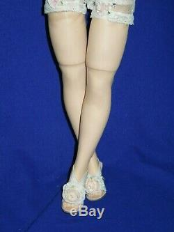 1950's Madame Alexander 20 blonde Basic Cissy doll + new chemise and mules