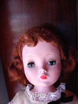 1950s MADAME ALEXANDER 20 CISSY DOLL AUBURN HAIR NICE HARD PLASTIC