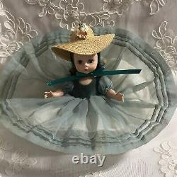 1954 Madame Alexander Kins SLW doll in tagged Blue Danube Dress # 351+ hat/shoes