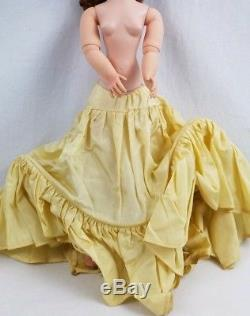 1955 Madame Alexander 20 Tall Cissy In Champagne Satin Dress, All Original