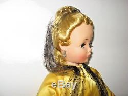 1956 Madame Alexander CISSY DOLL in GOLD THEATRE All ORIG. ONE OWNER