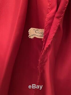 1957 Vintage Madame Alexander Cissy Doll Dress Red Taffeta with Polka Dots