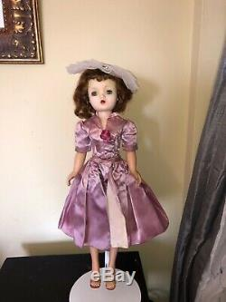 1958 Madame Alexander Cissy Tagged lavender Sheath Dress overskirt hat NO DOLL