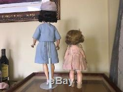 1961 Madame Alexander rare outfit 21 Inch Jacqueline Kennedy and Caroiline Doll