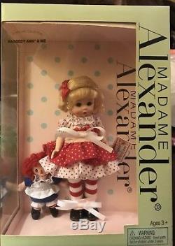 2006 Madame Alexander Storyland Collection Raggedy Ann & Me Dolls Nib
