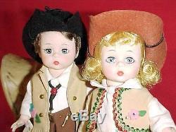 8 Madame Alexander #732 Cowboy & #724 Cowgirl 1966
