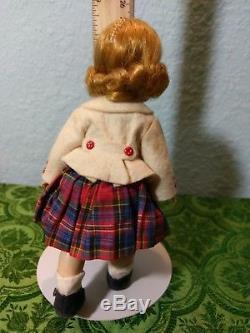 8 Madame Alexander Straight Leg Walker in plaid skirt