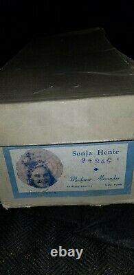 Antique Madame Alexander SONJA HENIE composition doll skiing Orig Box tag