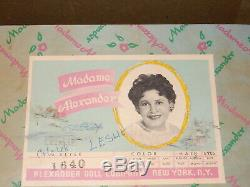 BEAUTIFUL 1960's MIB Madame Alexander Leslie Ballerina