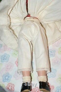 BEAUTIFUL Vintage 14 Madame Alexander JO Little Women Hard Plastic Strung Doll