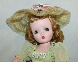 Beautiful 1958 Cissy Dressed in Celery Green Dress by Madame Alexander