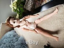 Beautiful Auburn Madam Alexander Cissy 1950s Doll In Satin Dress And Coat. All