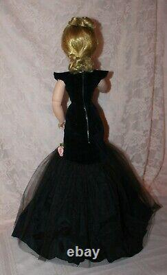 Beautiful Cissy in 1956 Black Torso Gown by Madame Alexander