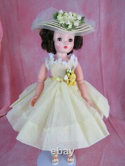 Beautiful Madame Alexander Cissy Doll Brunette Redressed in Summer Ensemble