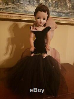 Beautiful, Original CISSY Auburn Haired DOLL 1956 withShoes, Gown, Slip, ring