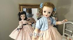 CISSY BINNIE WALKER 24 Madame Alexander 1955 BLONDE ORIG PINK DRESS! OOAK! TLC
