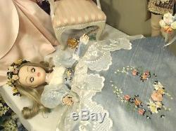 CISSY Madame Alexander 21 1999 RARE BEAUTY! ULTIMATE ANGEL! ORIG RAW SILK GOWN