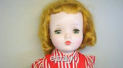Cissy Madame Alexander Doll w Red Dress Hat Shoes & Acc