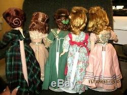 Complete Set 1949 Little Women Madame Alexander Hard Plastic Dolls Tagged Outfit