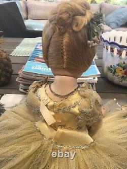 EXQUISITE 1948 HP A/O NINA BALLERINA By Madame Alexander in RARE YELLOW TUTU