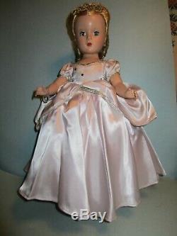 Early Hard Plastic Madame Alexander 14 Original Cinderella Doll Beautiful