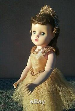 Elise Madame Alexander 1950s vintage 16 doll gold ballerina plastic jointed
