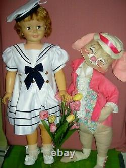 Extremely RARE, signed 1959 Madame Alexander, JANIE, 36 tall PlayPal doll #3513