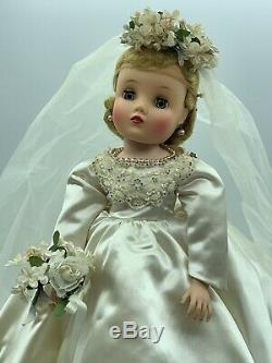 Fabulous HTF Vintage Madam Alexander ELISE BRIDE In Original Box