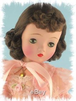 GORGEOUS 1955-56 Dark Brunette Vintage Madame Alexander Cissy Pretty In Pink