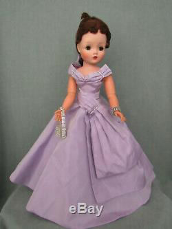 Gorgeous Brunette Cissy In Lilac Taffeta Gown