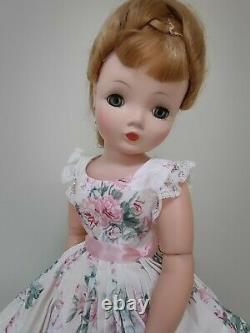 Gorgeous Rose Print Sundress & Slip For 20 Vintage Cissy DollDreams By