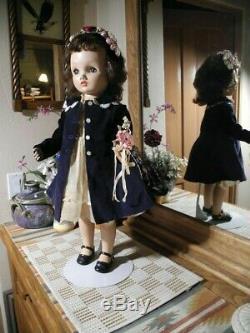 HTF Brunette 24 Binnie Winnie Walker Doll Madame Alexander TAGGED Dress, Slip