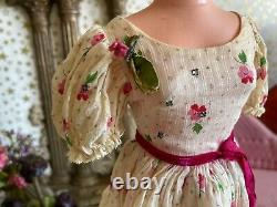 HTF Vintage Madame Alexander tagged Cissy Dimity Pink Clover dress 1956