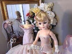 JACQUELINE PORTRAIT Madame Alexander 21 1969 BRIDE! PINK TORSO GOWN! OOAK! VEIL