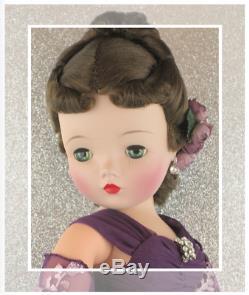 Jaw-Dropping Spectacular Vintage Madame Alexander Cissy Brunette Spit Curl Wig