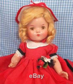 LITTLE COLONEL Madame Alexander 13 DOLL Compo orig clothes tag TEMPLE characte