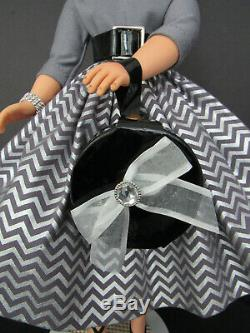 LOVELY CISSY IN SILVER AND GRAY- WithBLACK ACCESSORIES STRAWBERRY BLOND BEAUTY