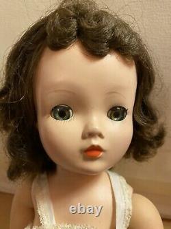 LOVELY Vintage BRUNETTE CISSY DOLL Green Eyes Slip