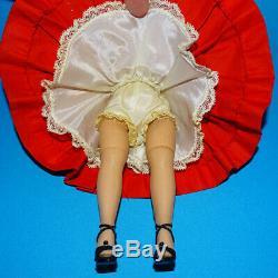 Lovely Madame Alexander Blond Cissette Doll Tagged Red Cotton Drop Waist Dress