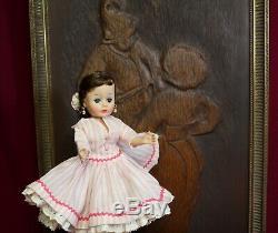 MADAME ALEXANDER 1950's Brunette Cissette Doll Square Dancer